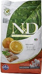 Farmina Natural And Delicious Grain-Free Formula Dry Dog Food, 5.5-Pound, Wild Herring