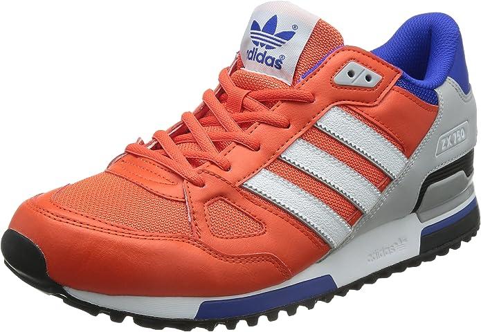 adidas ZX 750, Zapatillas de Deporte para Hombre, Rojo/Blanco/Azul ...