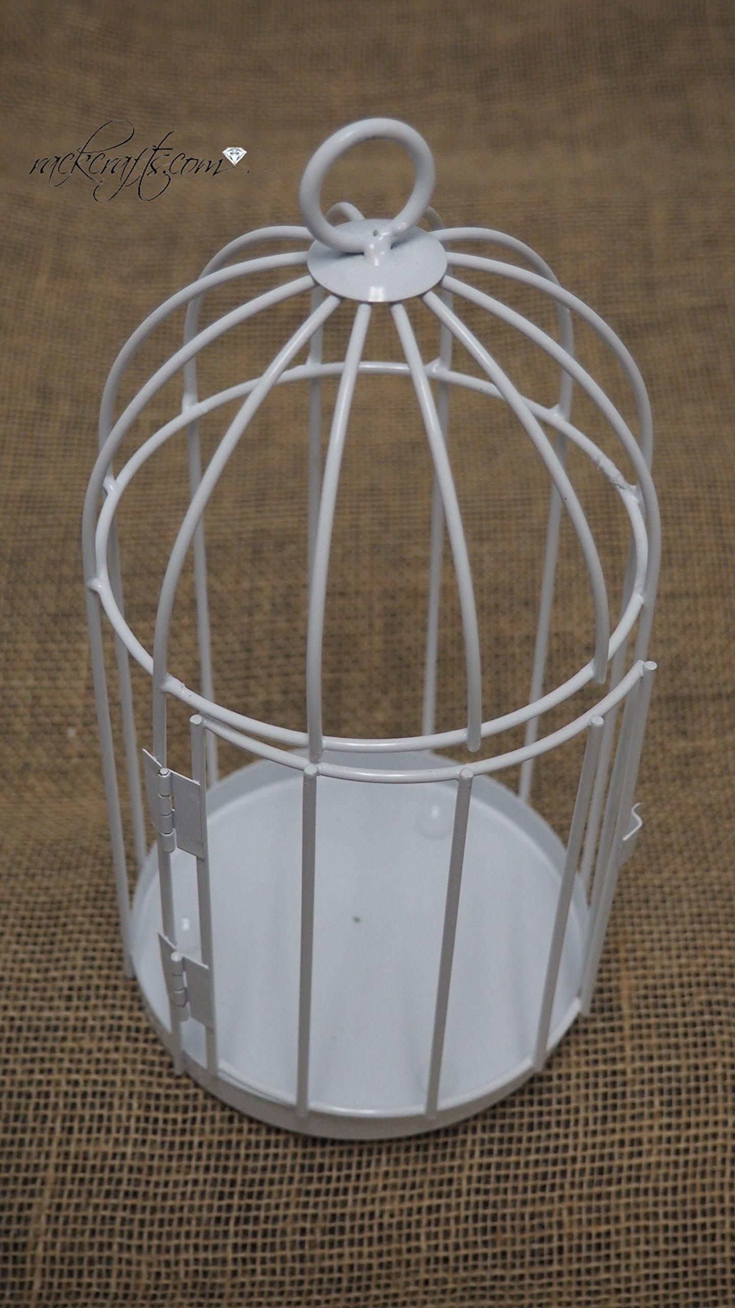 rackcrafts.com Mini Small Wedding Anniversary Bird Cage Cake Topper Garden Home Decor