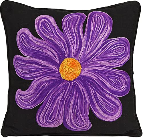 IMAX 86018 Bloom Pillow, Purple