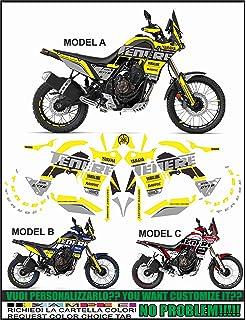 Kit de Pegatinas en Gel 3D Protecciones Lateral para Moto Compatible Yamaha Tenere 700 Azul
