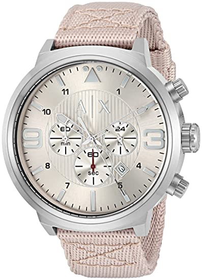 2919b63b021 Image Unavailable. Image not available for. Colour  Armani Exchange Men s  AX1374 Nude Leather Watch
