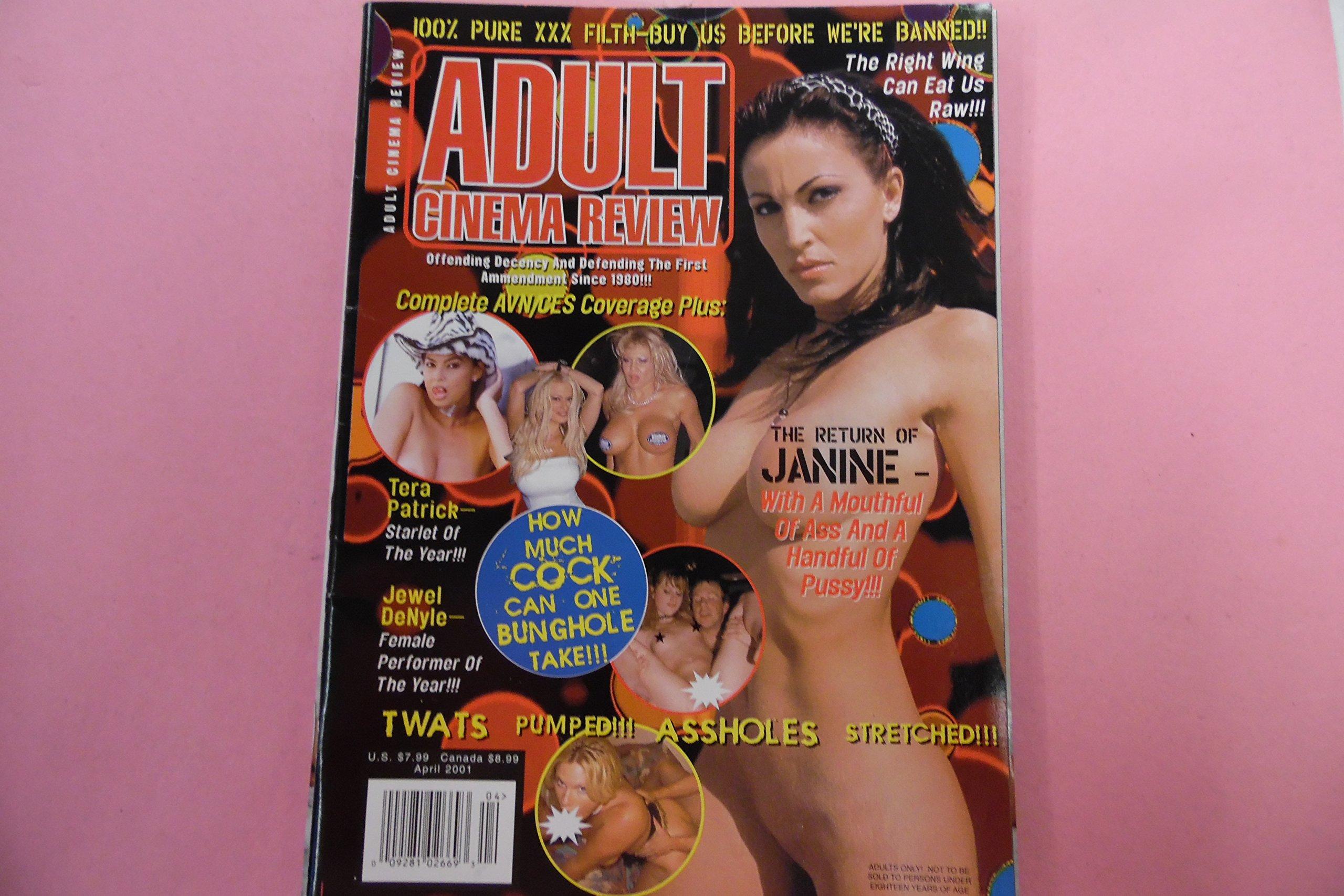 Adult Cinema Review Magazine Janine Tera Patrick Jewel Denyle April 2001 Acr Amazon Com Books