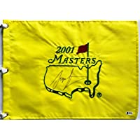 $245 » Sergio Garcia signed Masters golf Flag 2001 tournament pga full sig beckett coa