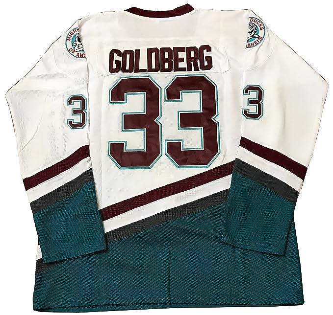 buy popular 20c96 f5df6 Greg Goldberg #33 Mighty Ducks Movie Hockey Jersey White