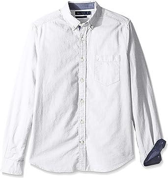 Nautica - Camisa Oxford de manga larga con botones para hombre: Amazon.es: Ropa y accesorios