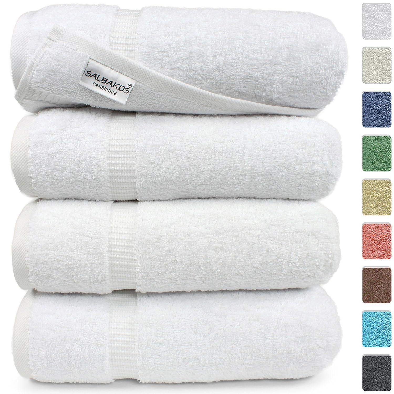 Amazon com turkish luxury hotel x54 bath towels 100 combed cotton eco friendly set of 4 white home kitchen