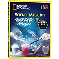 NATIONAL GEOGRAPHIC Magic Chemistry Set - Perform 10 Amazing Easy Tricks with Science, Create a Magic Show with White…