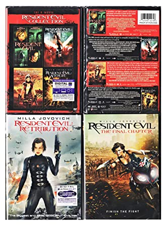 Amazon Com Resident Evil Collection 6 Movie Set Resident Evil Apocalypse Extinction Afterlife Retribution The Final Chapter Movies Tv