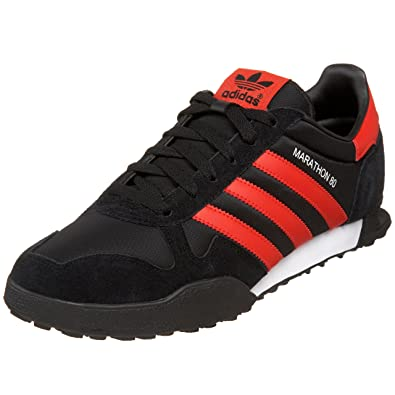 meet d1c41 5fa5e Adidas Originals Mens Marathon 80 Fashion Sneaker,BlackPoppyWhite,6.5 D