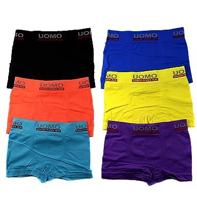 73cb6d9cea 6er Pack Jungen Mikrofaser Boxershorts Kinder Unterhosen Kids Unterwäsche  Größe 104-164 A.TM00