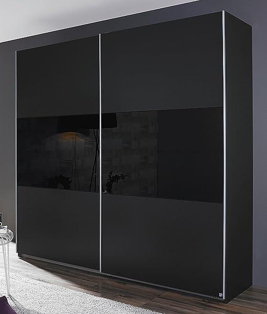 Rauch Humo Armario de Puertas correderas (2 Puertas Gris Metalizado/Cristal Negro 218 x 210 x 59 cm: Amazon.es: Juguetes y juegos