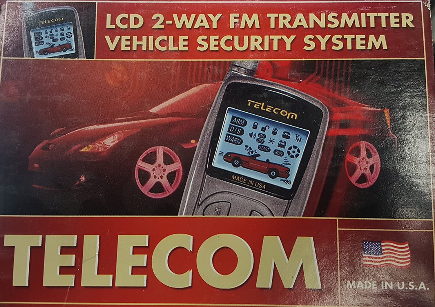 Telecom Vcs7000 2 Way Lcd Alarm And Remote Start System Tvr Starter Car Electronics