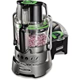 Hamilton Beach Professional Stack & Snap Dicing Food Processor for Slicing, Shredding and Kneading, Extra-Wide Feed Chute, 14
