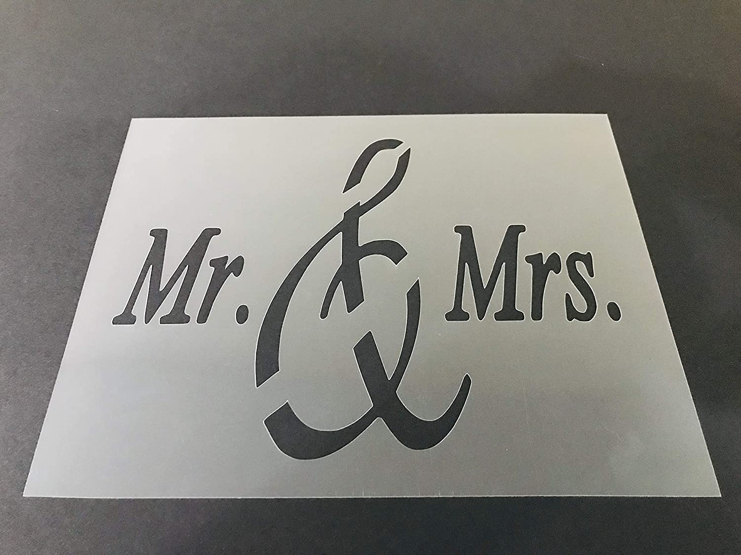 Mr & Mrs Stencil #2 Reusable 10 mil Thick 8in x 10.5in sheet