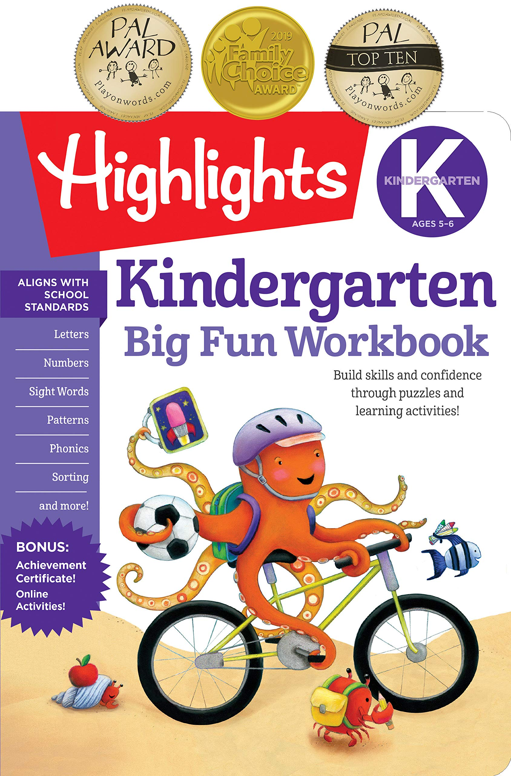 Amazon Com Kindergarten Big Fun Workbook Highlights Big Fun Activity Workbooks 9781629797632 Highlights Learning Books