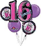 Sweet 16 Balloon Bouquet (Each) - Party Supplies