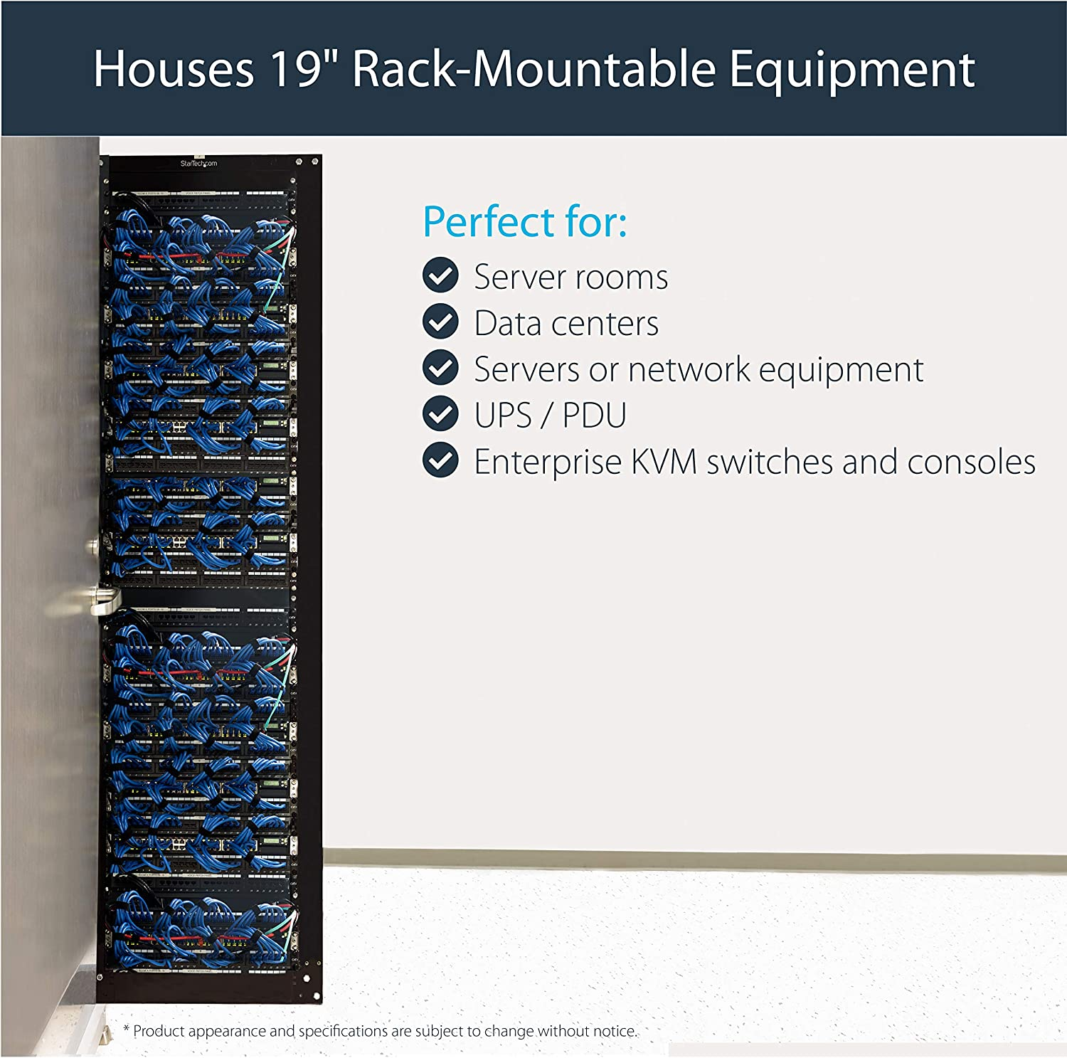 StarTech.com 42U 4 Post Open Frame Server Rack 4POSTRACK42 Floor Standing Network Data Cabinet
