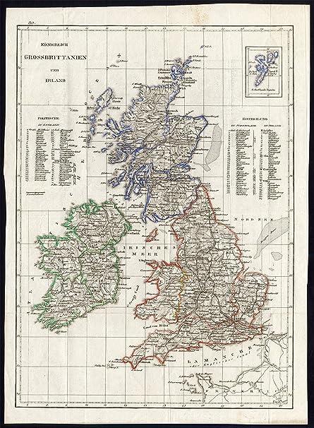 antique map great britain ireland england shetland islands scotland 1800