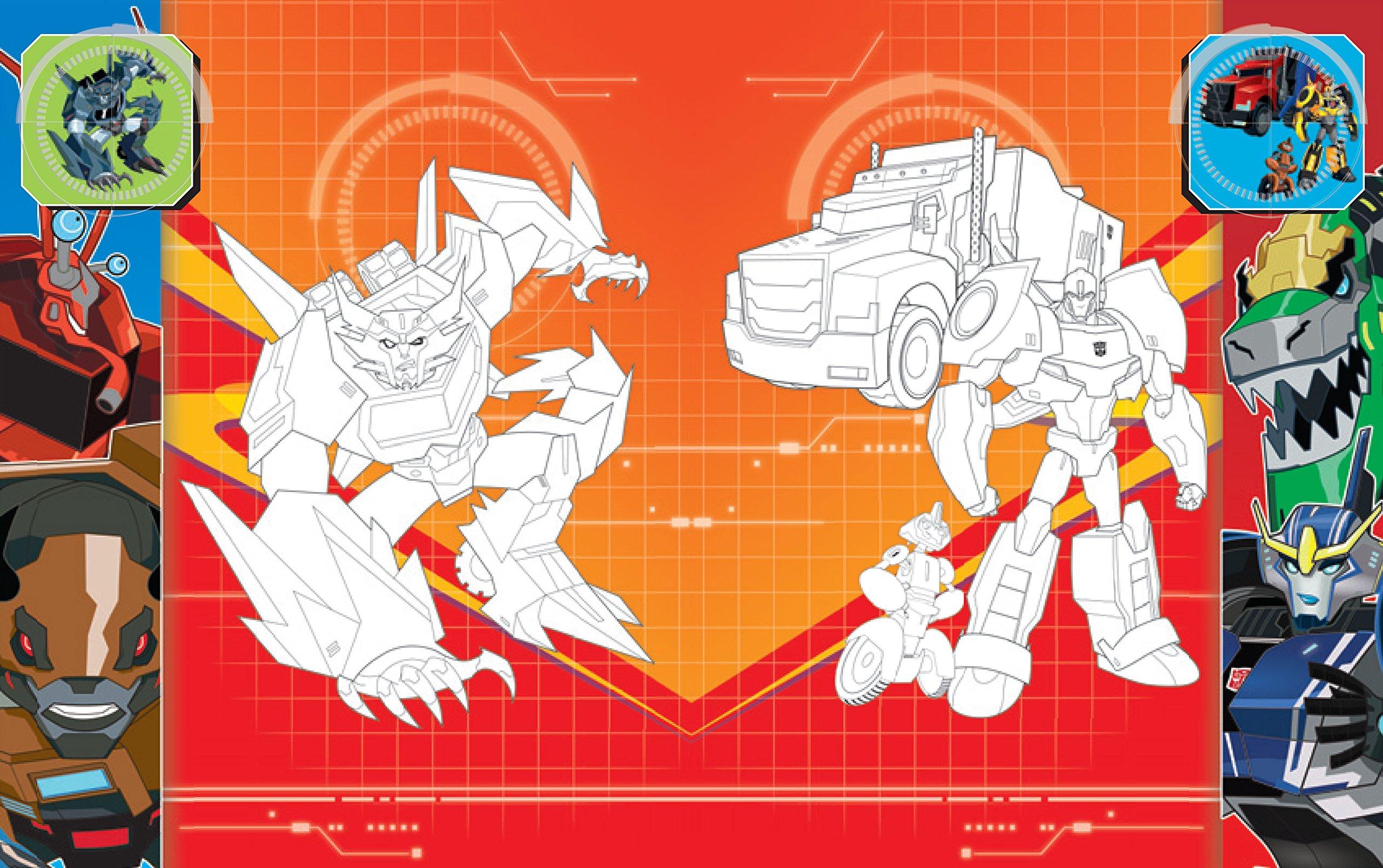 Malbuch Transformers Robots In Disguise Mit 128 Farbigen Seiten