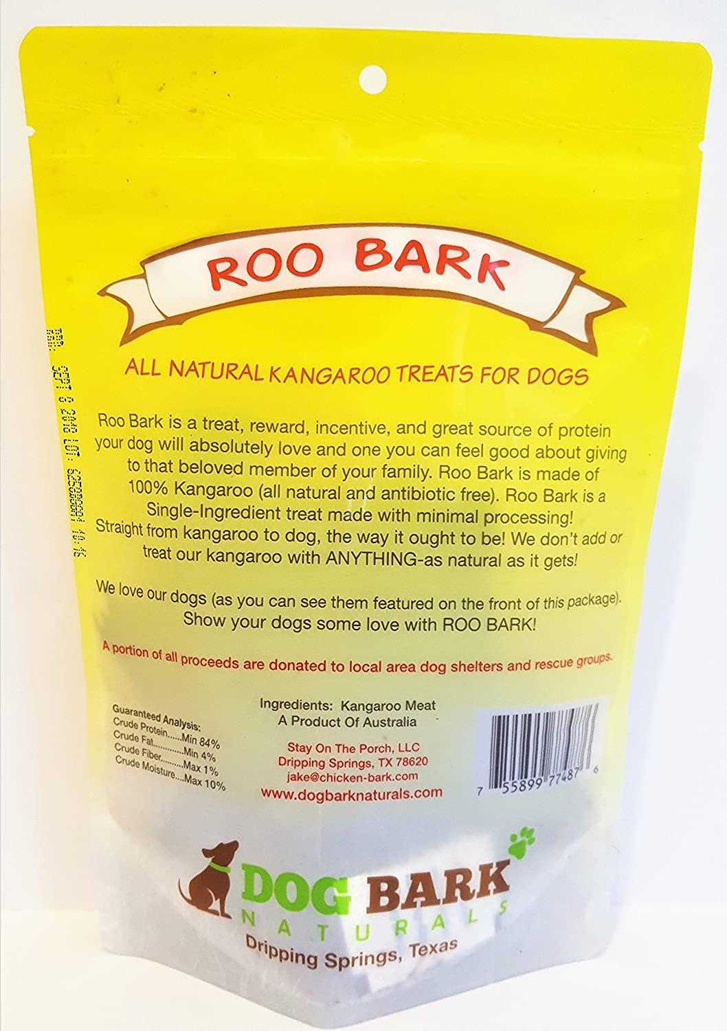 Amazon.com : Roo Bark - As Natural As It Gets - 1 Ingredient!!! Responsibly Source In Australia and Made USA, Portion Of All Proceeds Donated To Dogs In ...