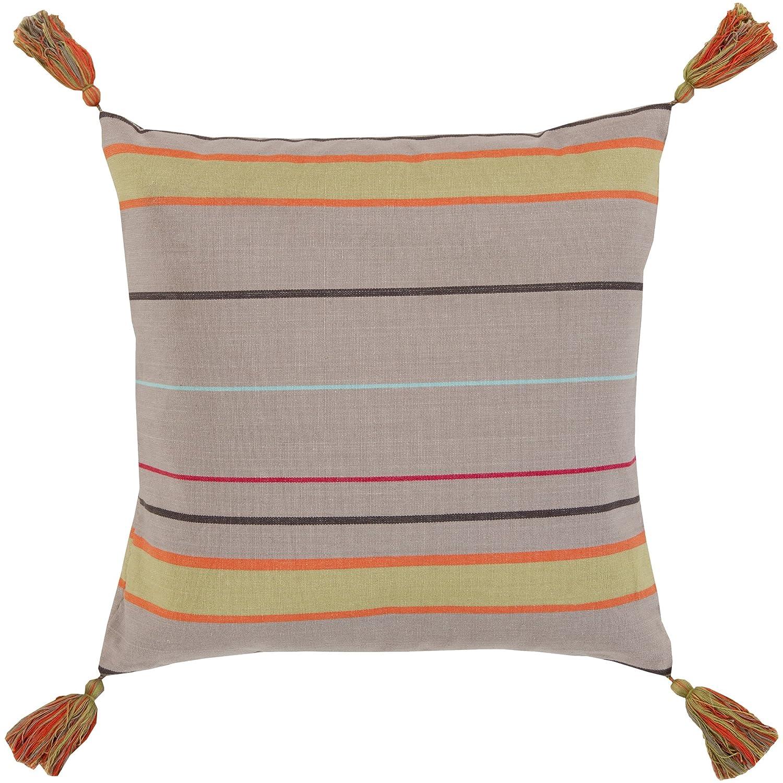 Surya ss001 – 2222p合成塗りつぶし枕、22インチby 22インチ、トープ/ Poppy /オリーブ/ブラック/チェリー/ミント   B00H2KBVZE