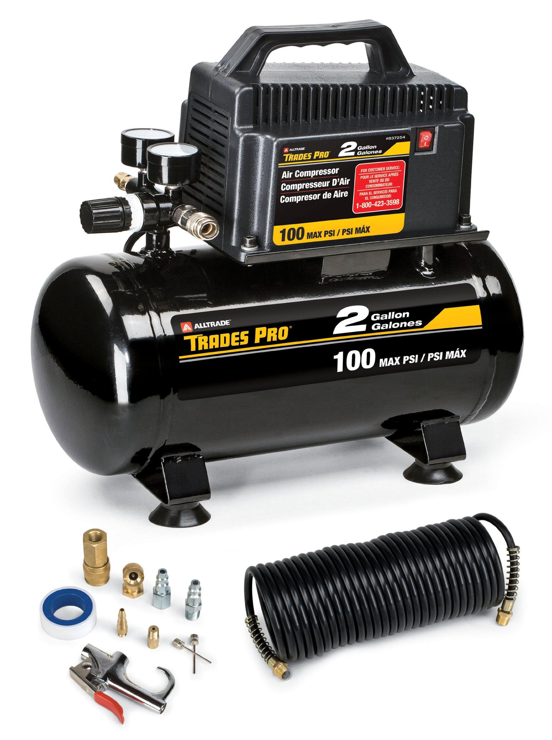 837254 2 Gal Air Compressor w/11Pc AC by Alltrade