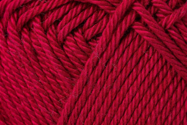 Schachenmayr Ovillo Hilo de algodón para Punto y Ganchillo Catania 9801210, algodón, borgoña, 11,5 x 5,2 x 6 cm: Amazon.es: Hogar