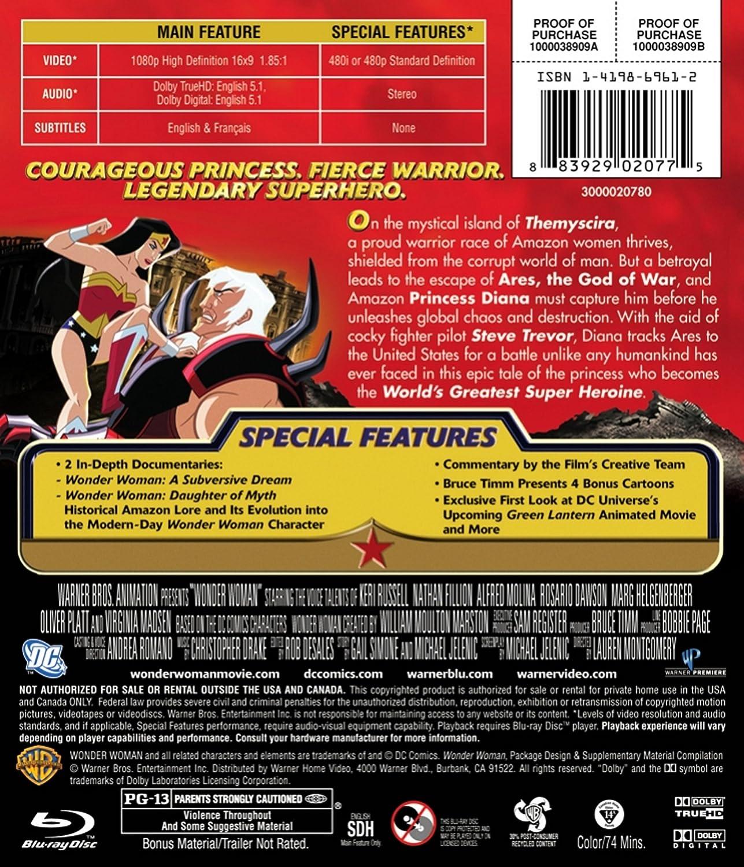Amazon com: Wonder Woman 2009 [Blu-ray]: Keri Russell