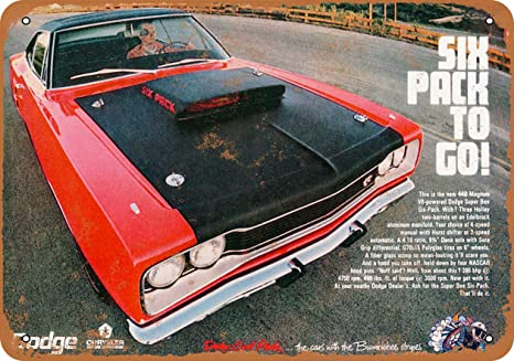 Amazon com: Wall-Color 7 x 10 Metal Sign - 1969 Dodge Super