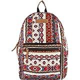 Almolfa Classic Canvas Backpack (Multicolour 2 Laptop)