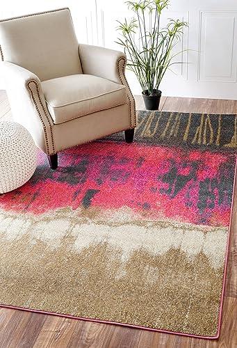 nuLOOM Samella Abstract Area Rug, 5 3 x 7 7 , Pink
