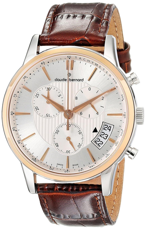 Claude Bernard Men s 01002 357R AIR Classic Chronograph Analog Display  Swiss Quartz Brown Watch  Amazon.co.uk  Watches 66ced78184e