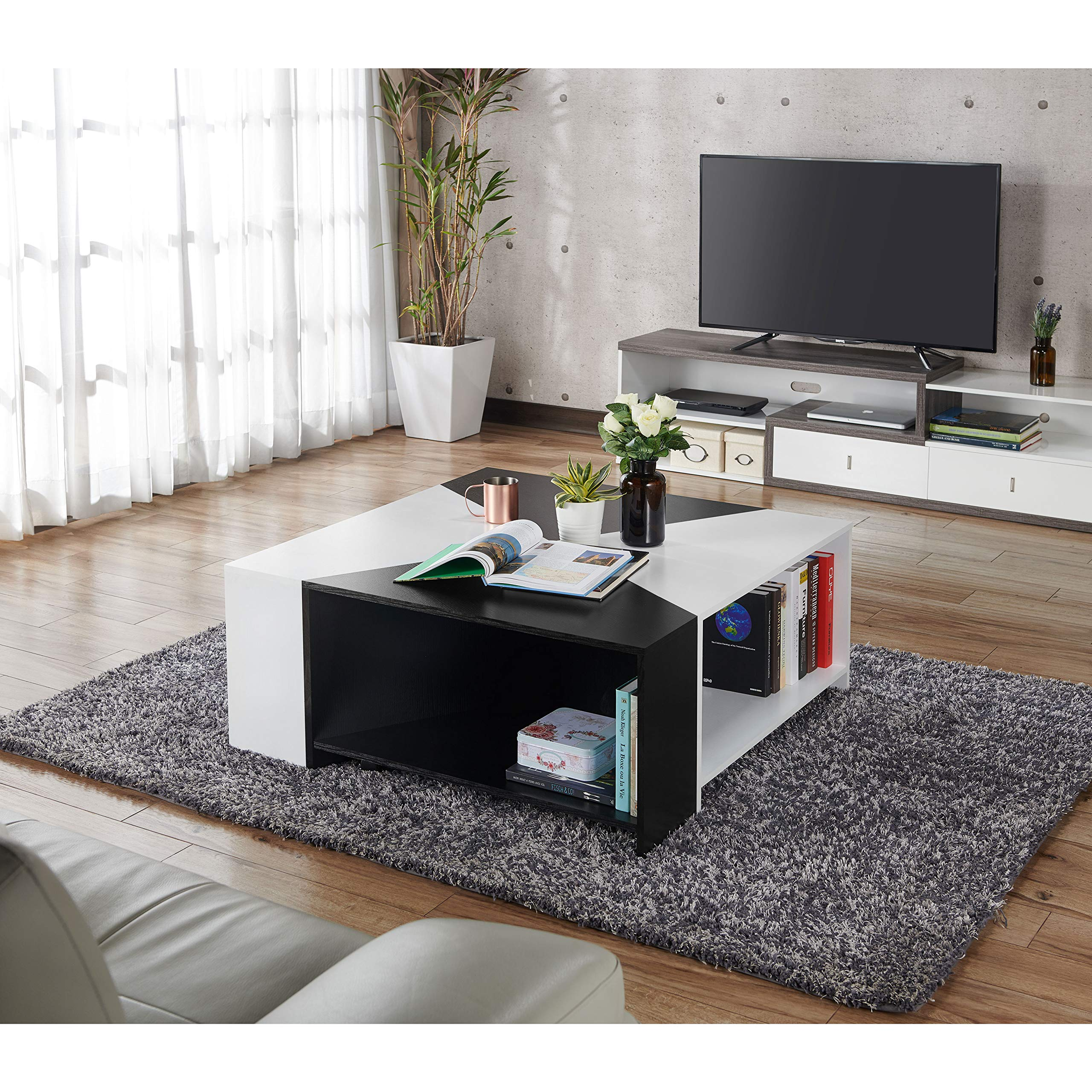 HOMES: Inside + Out Melaina Modern Modular Coffee Table by HOMES: Inside + Out