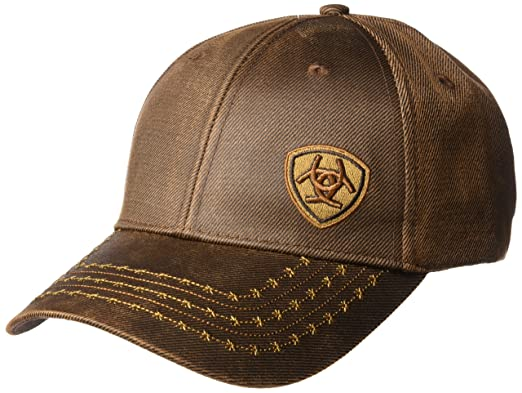 a9d0f2b3 ARIAT Men's Full Oil Corner Logo, Brown, One Size at Amazon Men's ...