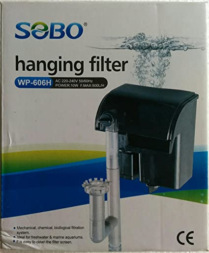 colourful aquarium sobo wp 606h hanging hang on filter
