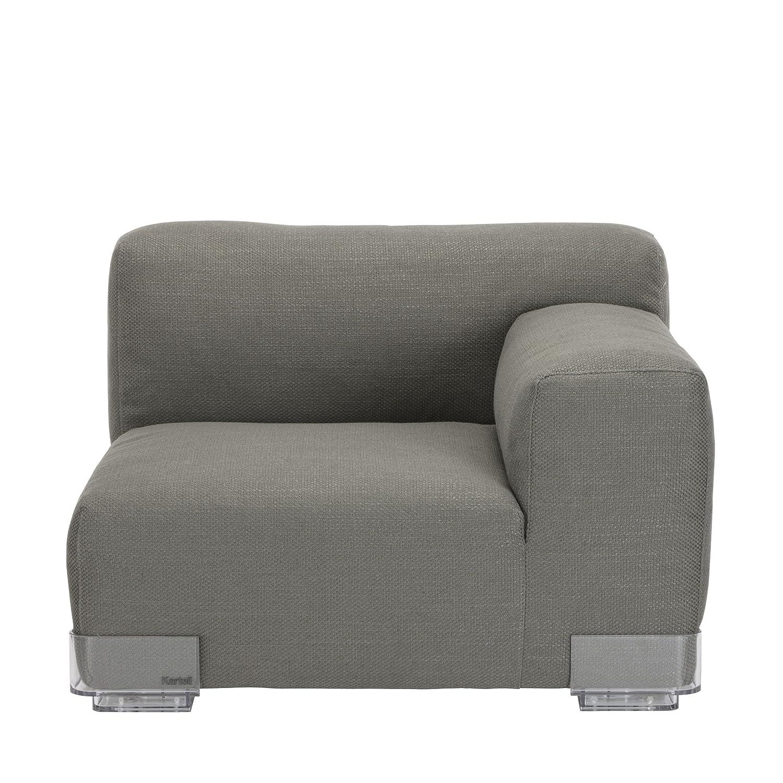 Plastics Duo 7096 Sessel klein, Armlehne rechts niedrig - grau