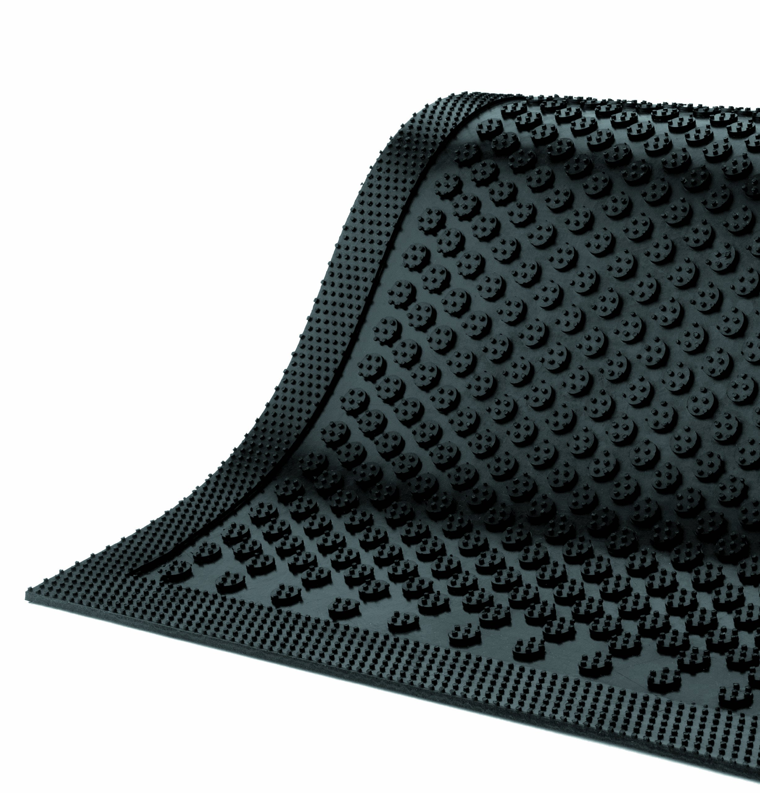 Andersen 545 Safety Scrape Nitrile Rubber Entrance Indoor/Outdoor Floor Mat, 10' Length x 4' Width, 1/8'' Thick, Black