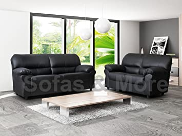 candy 3 2 faux leather sofa suite in black amazon co uk kitchen home rh amazon co uk