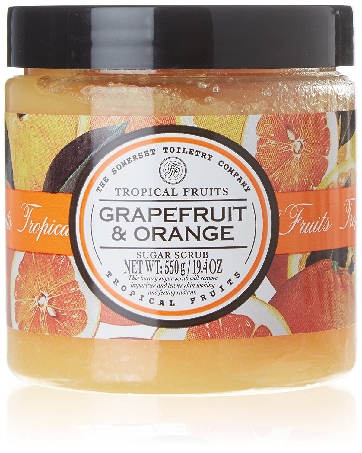 Tropical Fruits Grapefruit and Orange Sugar Scrub 550 g The Somerset Toiletry Company 92331