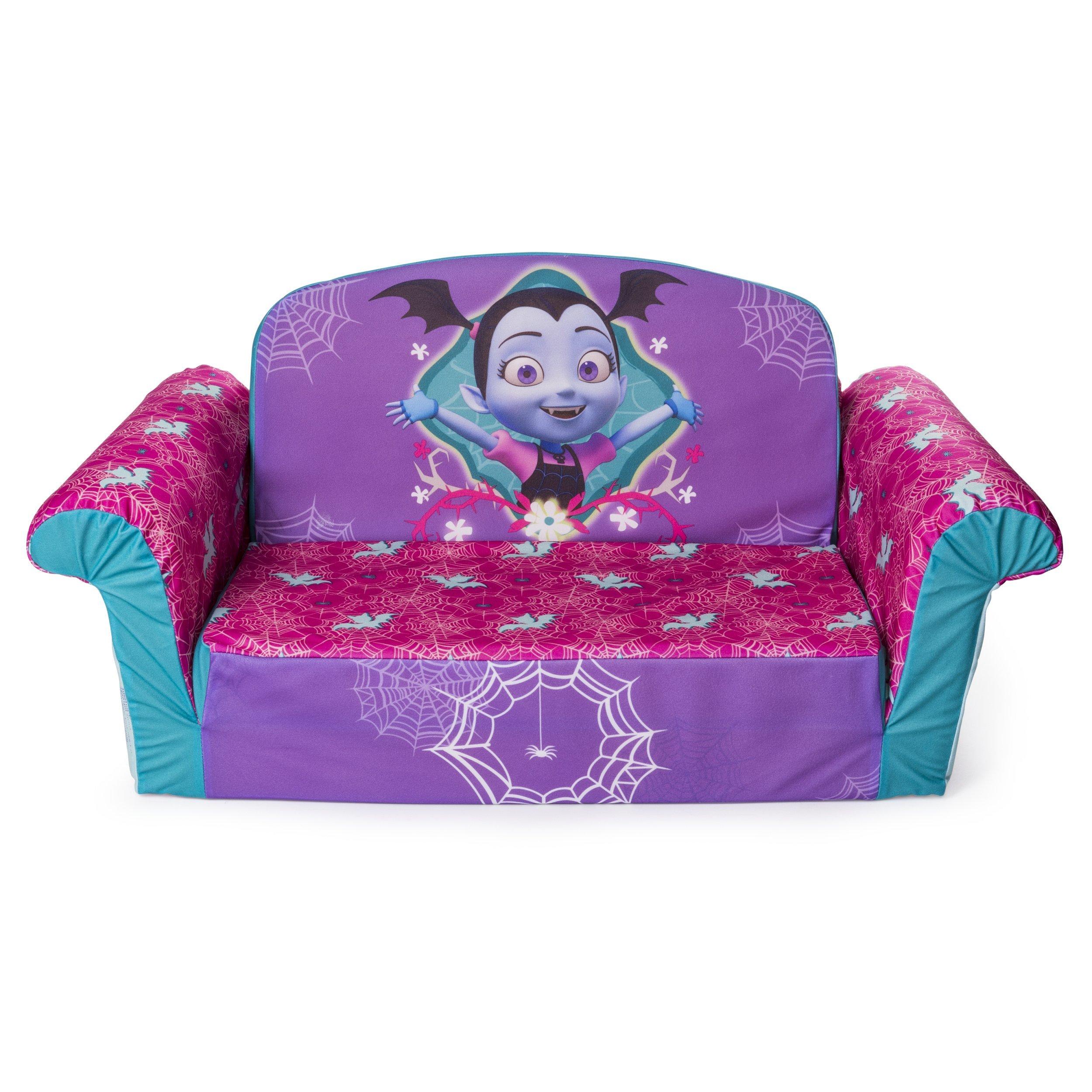 Marshmallow Furniture, Children's 2 in 1 Flip Open Foam Sofa, Disney's Vampirina, by Spin Master