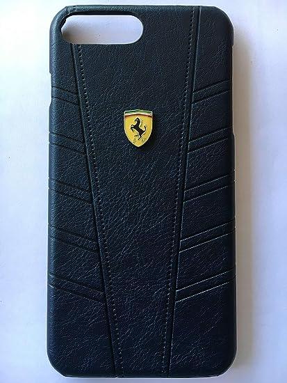 big sale d4e2d 552c6 Ferrari Imprint Leather Back Case Cover for iPhone 7: Amazon.in ...