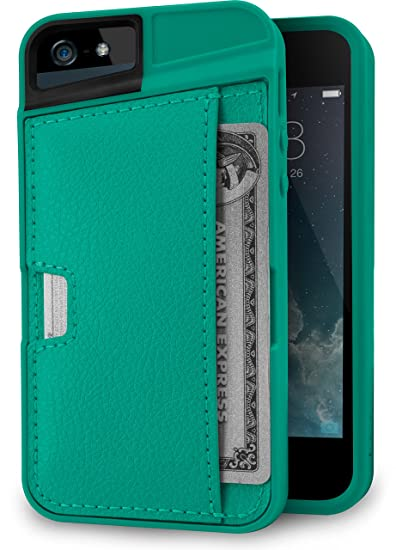 timeless design 3c572 7e1d5 Silk iPhone SE / 5 / 5s Wallet Case - Wallet Slayer Vol. 2 [Slim Protective  Q Card Case Credit Card Cover] - Green Fabric