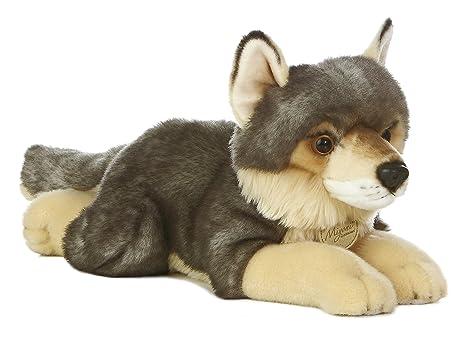 Amazon Com Aurora World Miyoni Wolf Plush 16 Toys Games