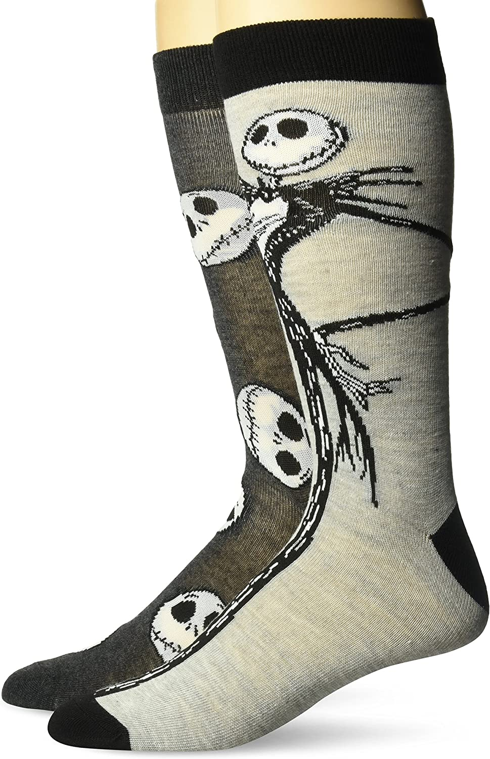 Disney Nightmare Before Christmas Men's 2 Pack Crew Socks
