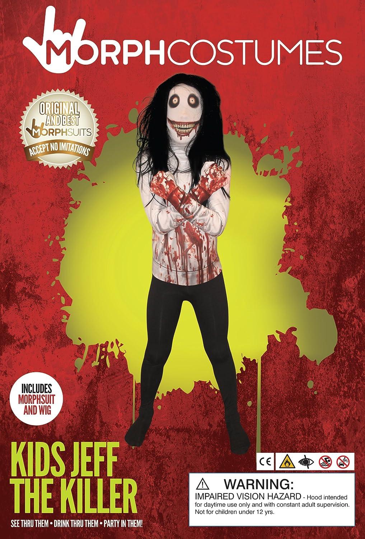Jeff la Killer Kids Monster Morphsuit Disfraz – Tamaño Grande ...