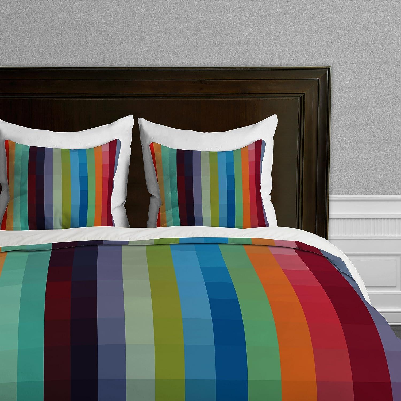 Queen Deny Designs Madart City Colors Duvet Cover