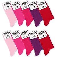 Mat & Vic's Calcetines Clásicos de Vestir para Hombre y Mujer, Algodón, Certificado Oeko-Tex 100, cómodos, negro o…