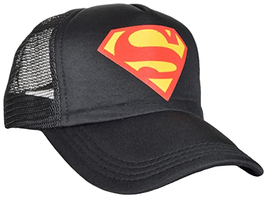 c4561f9c61a Black Superman Casual Cap For Men and Women