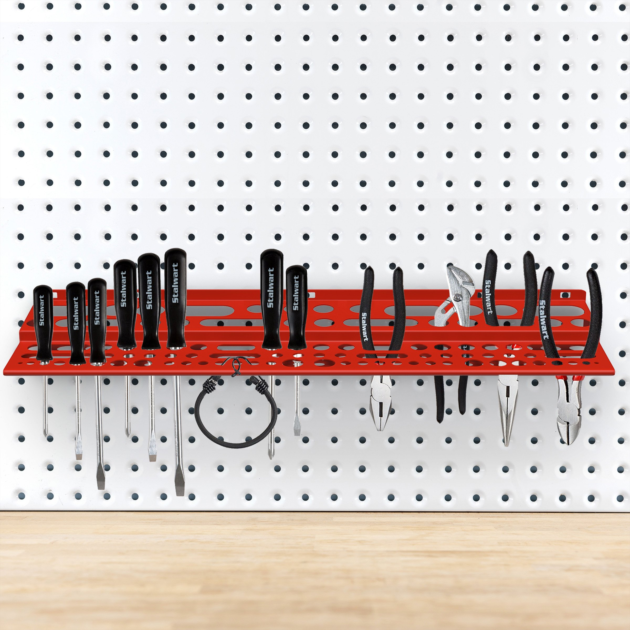 Mountable Tool Storage Shelf for Garage, Shed or Work Shop Organization- Wall Mount Multi Level Organizer Rack, Holds Up To 96 Tools by Stalwart by Stalwart (Image #4)